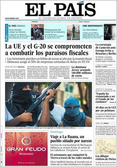 Los Titulares y Portadas de Noticias Destacadas Españolas del 19 de Mayo de 2013 del Diario El País ¿Que le parecio esta Portada de este Diario Español?