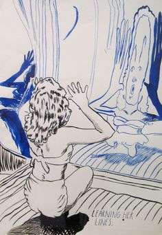 Raymond Pettibon . Learning her lines , 2013