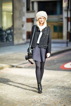 Spotted: a sweet Candice Lake in London #streetstyle