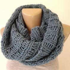 men scarf ,women scarf ,infinity scarf ,unisex .eternity ,cowl scarves ,acrylic yarn ,winter accessory ,blue scarf