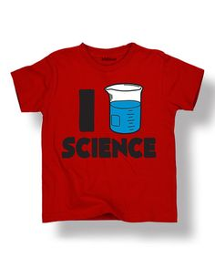Look what I found on #zulily! Red 'I Love Science' Tee - Toddler & Kids #zulilyfinds
