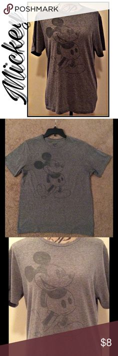 🎉HP🎉Mickey T-Shirt Mickey Tshirt. Faded grey color. Size S. Purchased shirt this color, it's not faded from wear. Good condition. Tops Tees - Short Sleeve