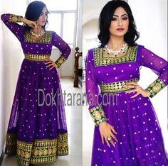 #purple #gold #afghani #dress