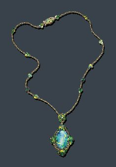 Necklace Louis Comfort Tiffany, 1920 Christie's #tiffany discount tiffany jewelry necklaces