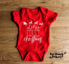 Hey, I found this really awesome Etsy listing at https://www.etsy.com/listing/254018652/custom-babys-first-christmas-onsie