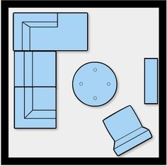 Small Living Room Ideas: 10 Ways to Furnish & Lay Out 100 Square Feet - move everything 1/2 turn to accomodate the door.
