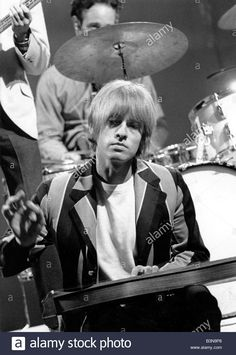 Brian Jones playing his dulcimer on the set of Ready! Steady! Go!, August 1966