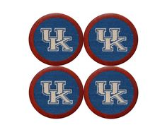 University of Kentucky Needlepoint Coasters