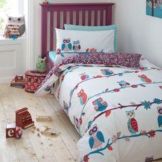 Ben De Lisi Girl's White Owl Double Bedding Set by Ben de Lisi, http://www.amazon.co.uk/dp/B00AU3JRJ2/ref=cm_sw_r_pi_dp_7mhtsb01JVF11