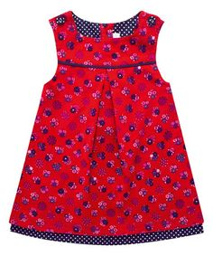 Loving this Red Floral Spot A-Line Dress - Infant & Toddler on #zulily! #zulilyfinds