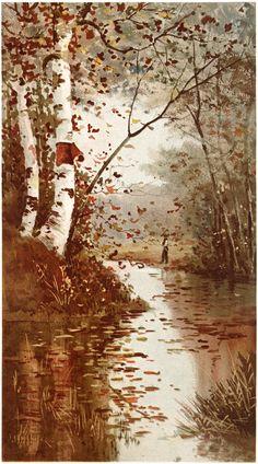 Fall Landscape Scene Graphics Fairy