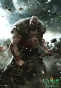 ArtStation - Gwent Illustration: Berserker, Marek Madej
