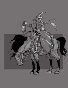 Highwayman by on DeviantArt Fantasy Character Design, Character Design Inspiration, Character Concept, Character Art, Concept Art, Character Ideas, Fantasy Wizard, Fantasy Art, Pen & Paper