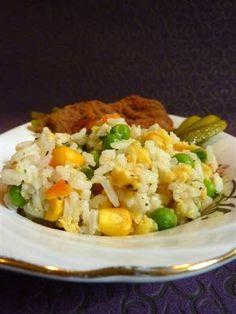 Kiskonyhám ízei: Rántott kacsamáj, tojásos, zöldséges rizzsel Food, Essen, Yemek, Meals