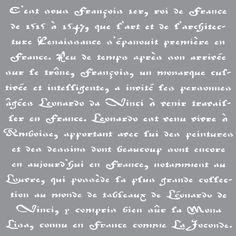 """DecoArt - Americana Decor - 12""""x12"""" Stencil - Old French Script"""