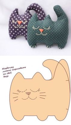 Molded Cat Filler Toy Making - Katzen Sewing Toys, Baby Sewing, Sewing Crafts, Sewing Stuffed Animals, Stuffed Animal Patterns, Animal Sewing Patterns, Doll Patterns, Fabric Animals, Felt Animals