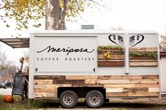 Mariposa Coffee Roastery located in Norman - you can find them in OKC at Native Roots, Shop Good & Forward Foods.that Coffee Truck is TOOOOO Cute! Food Truck Business, Rent A Food Truck, Food Truck Wedding, Foodtrucks Ideas, Coffee Food Truck, Mobile Coffee Shop, Coffee Trailer, Mobile Cafe, Mobile Shop