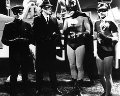 Kato (Bruce Lee), The Green Hornet (Van Williams), Batman (Adam West), and Robin (Burt Ward) try to solve a crime that has brought the Green Hornet to Gotham City.