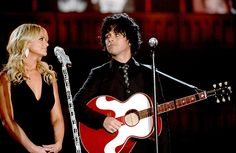 Miranda Lambert and Billie Joe Armstrong perform during the 56th GRAMMY Awards at Staples Center on January 26, 2014 in Los Angeles, CA