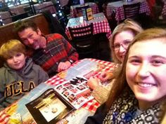 Mary Saig and family enjoying lunch with us before the ice storm!