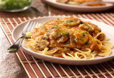 Chicken in sweet onion mushroom sauce