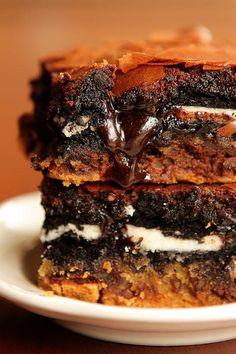 chocolate chip oreo brownie cookie ♥