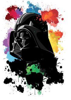 Ouroboros - 'Dart Vader' (by Carolina). Star Wars Silhouette, Ouroboros, Star Wars Painting, Custom Painted Shoes, Nerd, Geek Shirts, Star Wars Wallpaper, Cool Pictures, Graffiti