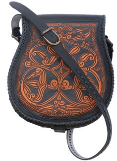 Hand made women shoulder bag with Kalocsa embroidery pattern - $ 227 - http://www.mrgoulash.com/hungarian-products-store/traditional-hungarian-bags/hand-made-women-shoulder-bag-with-kalocsa-embroidery-pattern/