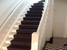 mooie trap met zwart met wit