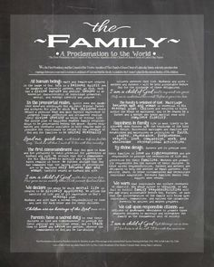DIGITAL ART - The Family: A Proclamation to the World - I am a child of God Lds Art Print, lds chalk art, lds home decor, lds proclamation by thymeline on Etsy