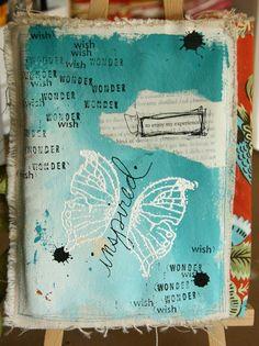 carta di libro su tela... fatto l'anno scorso, da riprovare...