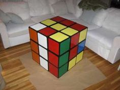 Rubik's cube table!  Would be great in a gameroom!