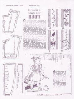 UN TABLIER À VOLANTS POUR BLEUETTE. 4 août 1955                                                                                                                                                                                 Plus