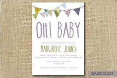 Shabby Chic Baby Shower Invitations   Printable digital invitation files offer a simple and affordable way to get customized invitations without putting style aside.