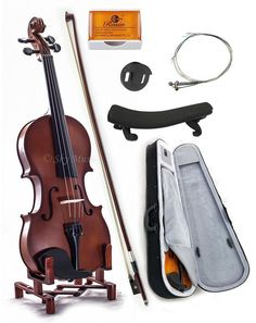 SKY 1/2 Size Student Violin GREAT STARTER KIT with Lightweight Case #Sky