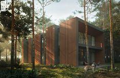 Nowoczesny projekt. Dom jak las otoczony sosnami | Idea Domu