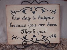 Wedding Sign Rustic Our is Happier Sign by SassySouthernCharm