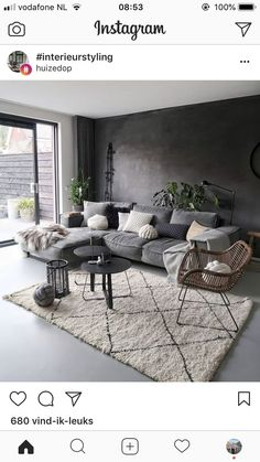 160 cozy small living room decor ideas for your apartment page 42 - Schlafzimmer ideen Living Room Carpet, Living Room Grey, Home Living Room, Apartment Living, Interior Design Living Room, Living Room Designs, Living Room Decor Colors, Room Colors, Wall Colors
