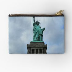 Iphone Wallet, Gifts For Family, Zipper Pouch, Statue Of Liberty, New York City, Art Prints, Printed, Awesome, Bags