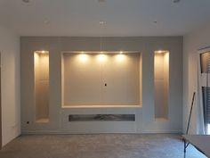 Diy Home Decor Living Room - New ideas Living Room Tv Unit, Living Room Decor, Living Rooms, Tv Wall Design, House Design, Tv Wanddekor, Fireplace Tv Wall, Modern Tv Wall Units, Plafond Design
