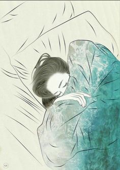 """""""But better to get hurt by the truth than comforted with a lie."""" -Khaled Hosseini artist yet unknown Art And Illustration, Anime Kunst, Anime Art, Sleeping Drawing, Girl Sleeping, Art Inspo, Art Girl, Art Drawings, Art Photography"""