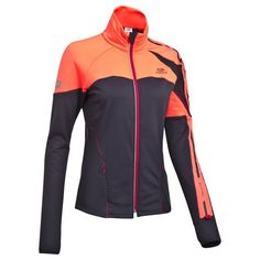 RUNNING_textil Running, Atletismo - Chaqueta termica de running mujer Kalenji K-Play naranja y negra KALENJI - Ropa de Running Patrick Nagel, Athleisure, Orange Gris, Running In Cold Weather, Future Clothes, Business Casual Men, Athletic Wear, Courses, Cool Tees
