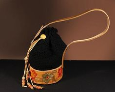 Boho Chic Bag Hobo Crochet and Leather by ADKArtsBoutique on Etsy