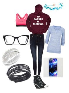 Chill day clothes by joeliisawemazing on Polyvore featuring polyvore, fashion, style, maurices, Dr. Denim, NIKE, Ash, Swarovski, Domo Beads and Spitfire