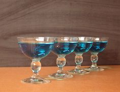 Four mid century Reijmyre Sweden champagne glasses by RecentHistory - Have a Vestiesteam New Year!