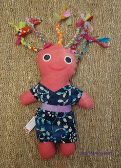 Caribbean Cloth Doll, etsy