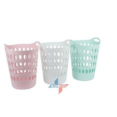 Tall Plastic Laundry Basket Amusing Pink Pastel Laundry Basket Amazoncouk Kitchen & Home  Revenge Design Inspiration
