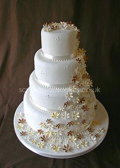 Daisy Cascade Wedding Cake - Daisy Cascade Wedding Cake - PJ x