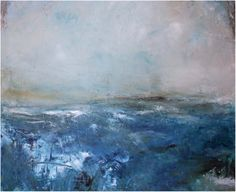 Although abstract in form, my paintings are landscapes – they capture the essence and emotional significance of a place and / or time. Irish Landscape, Abstract Landscape, Landscape Paintings, Encaustic Art, Contemporary Paintings, Mixed Media Art, Landscaping, Blues, Walking