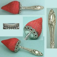 Antique Sterling Silver handled Strawberry Emery - Circa 1900